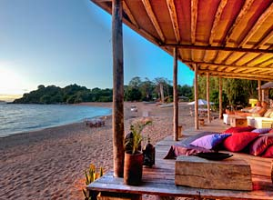 Relaxing at Kaya Mawa, Lake Malawi
