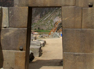 Inca doorway at Ollantaytambo