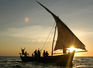 Take a sunset dhow cruise from Fundu Lagoon