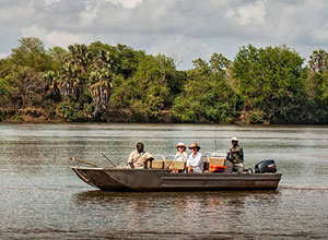 Enjoy a boat ride on the Ruaha River at Azura Selous