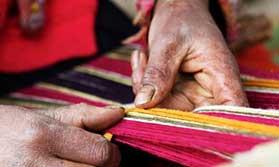 Textile weaving in Peru