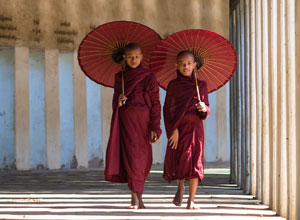 Monks at a temple