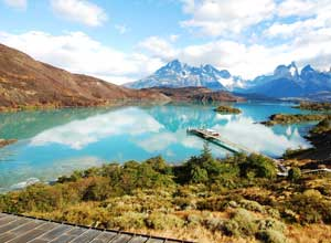 View of Lake Pehoe from Explora Patagonia