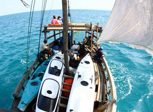 Sailing on the dhow in the Quirimbas archipelago