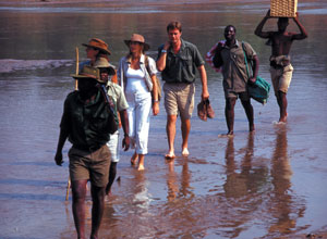 Walking safari on the River Journeys holiday
