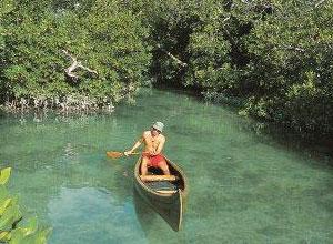 Azura Quilalea kayaking