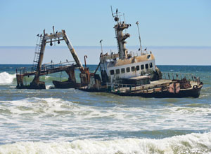 Recent shipwreck on the Skeleton Coast