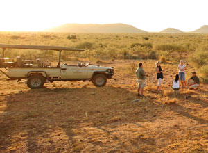 Sunset on a game drive at Rhulani Safari Lodge