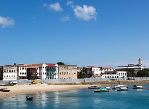 The waterfront at Stone Town on Zanzibar